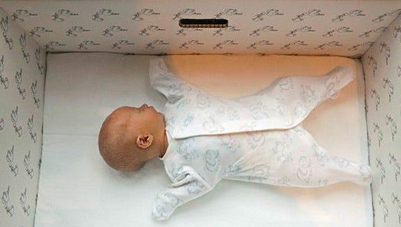 cajas para el descanso del bebé