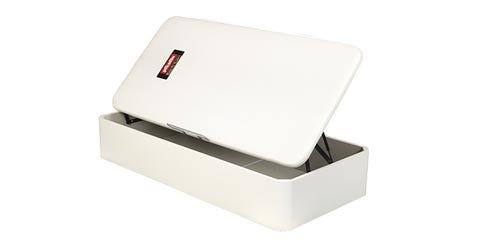 White fold-out storage base