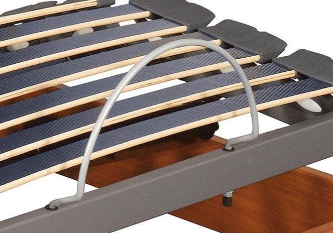 Adjustable wooden bed frame
